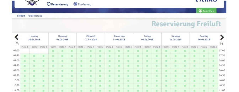 Anleitung Online-Platzbuchungssystem