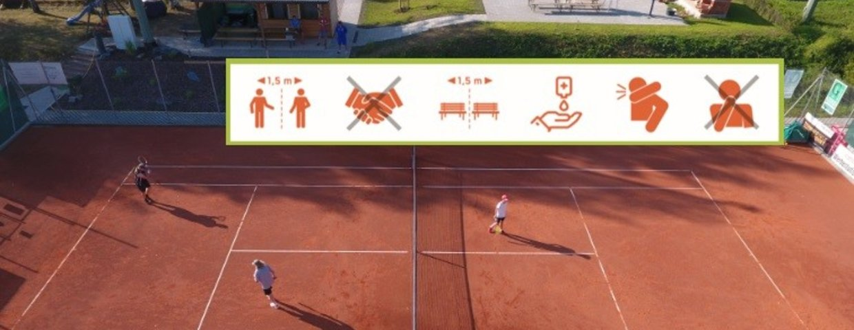 Tennisplätze ab 11.Mai geöffnet - Corona-Maßnahmen sind zu beachten