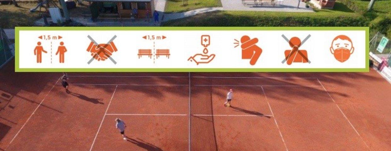 Tennisplätze ab 26.April geöffnet - Corona-Maßnahmen sind zu beachten