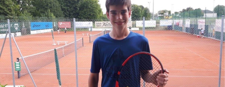 Vereinsmeisterschaft Jugend15 - Moritz Brehm siegt in Einzel und gemeinsam mit Benedikt Rost im Doppel